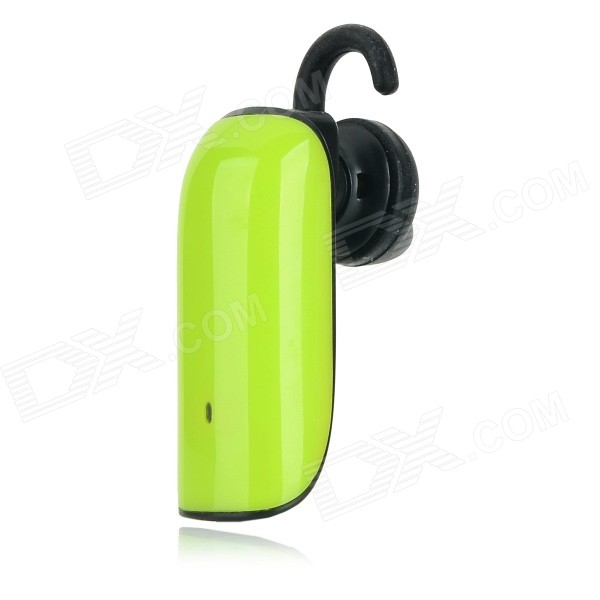 Jabees Stylish Colorful Bluetooth V3.0 Music Earhook Headset w/ Mic - Green + Black