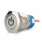 Water-resistant OFF-ON Self-Lock Stainless Steel Car Power Switch w/ Red LED Indicator - Silver