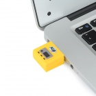 Mini Excavadora Artificial estilo USB 2.0 Flash Drive - Amarillo + Negro (4GB )
