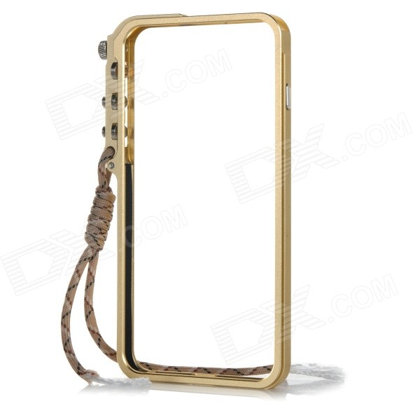 Protective Aluminum Alloy Bumper Frame Case for IPHONE 6 PLUS - Gold protective aluminum alloy bumper frame for iphone 6 black golden
