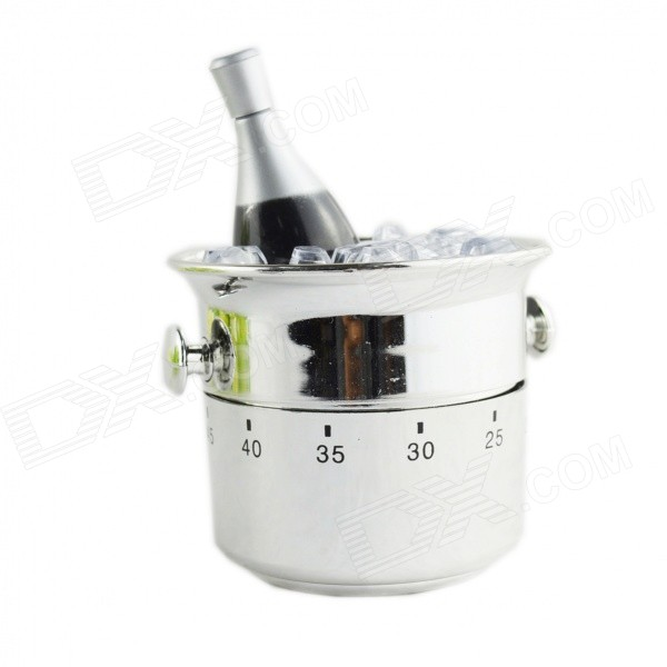 FEIS GS 1001 Champagne Bucket Style Timer - SilverTimer<br>Color Silver Model GS 1001 Shade Of Color Silver Material Plastic Quantity 1 Piece Packing List 1 x Timer<br>