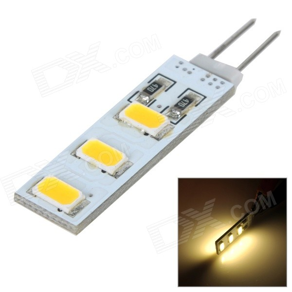 G4 3W 200lm 2700K 5730 SMD LED Double-Sided Emission Warm White Light Lamp (12V)