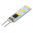 G4 3W 200lm 2700K SMD LED Double-Sided Warm White Light Lamp (12V)