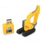 Mini Artificial escavadora Estilo USB 2.0 Flash Drive - Amarelo + Black (16GB)