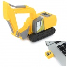 Mini Artificial Excavator Style USB 2.0 Flash Drive - Yellow + Black (32GB)