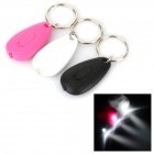 Portable LED White Light Mini Keychains - White + Black (2 x CR2016 / 3 PCS)