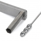 Steel Lock Pick / Opening Tool Set for Hexagon Locks - Silver