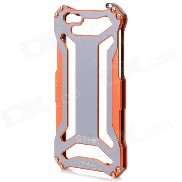 High Quality Fashhion Aluminum Alloy Protective Back Case for IPHONE 6 - Orange + Grey цена и фото