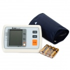 "iLian BP103A Upper Arm Style 3.2"" LCD Digital Blood Pressure Monitor - White + Black (4 x AA)"