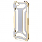 High Quality Fashhion Aluminum Alloy Protective Back Case for IPHONE 6 - Golden + Grey