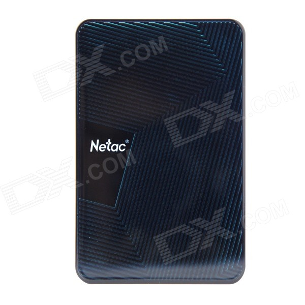 Netac K308 500GB USB 3.0 2.5 External Hard Drive HDD - Dark BlueHDD &amp; SSD<br>Color custom10000 Brand Netac Model K308 Quantity 1 Piece Material ABS Interface USB 3.0 Capacity / ROM Others500GB Form Factor 2.5 Max Sequential Read 640MB/S Max Sequential Write 640MB/S Packing List 1 x HDD 1 x 60cm Cable 1 x English User Manual<br>
