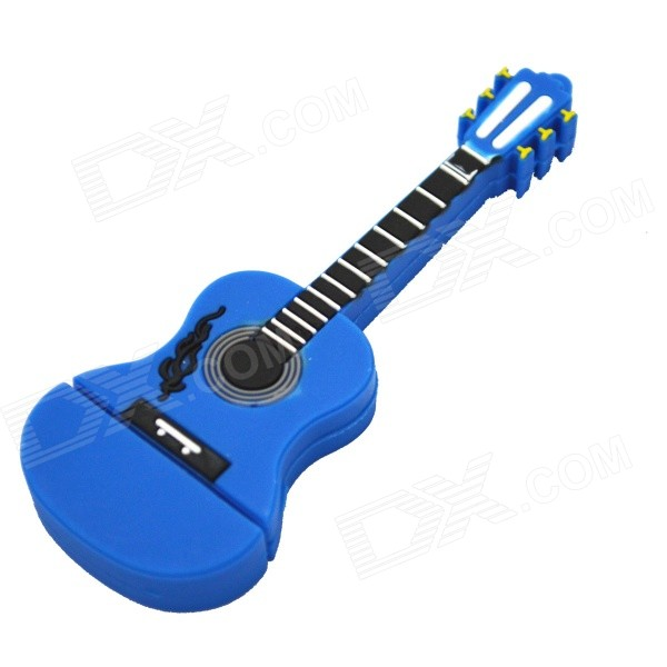 Guitar Shaped USB 2.0 Flash Drive - Sapphire Blue (8GB)
