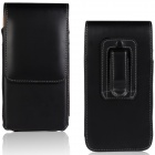 Protective PU Leather Top Flip Open Case w/ Belt Clip for IPHONE 6 - Black + Brown
