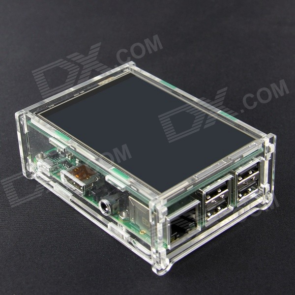 Acrylic Case for 3.5 PI TFT and Raspberry Pi B+ - Transparent жакет oodji oodji oo001ewiww25