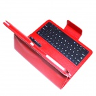 BK800 64-key Bluetooth V3.0 Keyboard w/ Detachable PU Case for Samsung TAB S T800 / 805 - Red