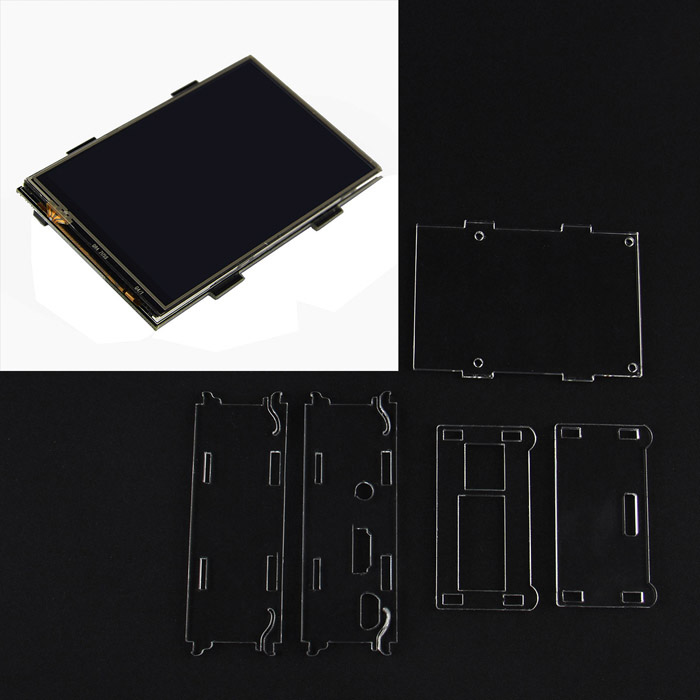 "3.5"" TFT LCD+Acrylic Case Box Kits for Raspberry Pi 2 Model B / B+ / B"