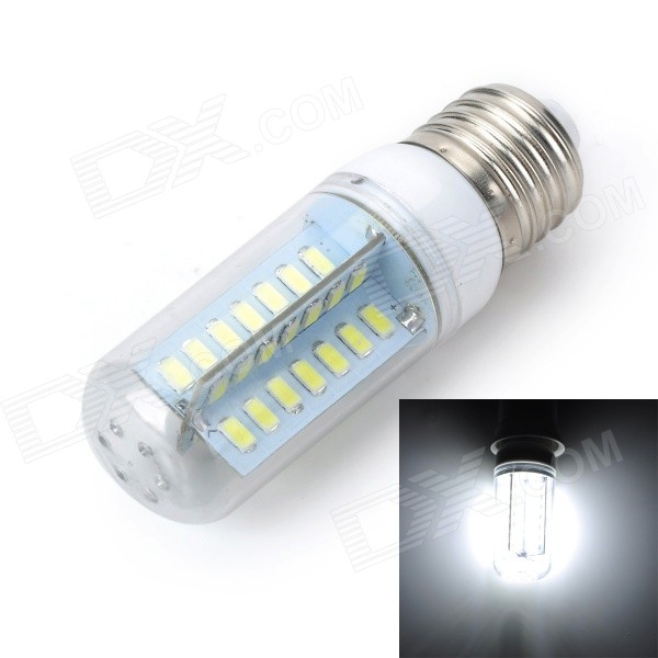 Marsing E27 10W 900lm 6000K 56-SMD 5730 LED White Light Corn  Lamp - White + Yellow (AC 220~240V) e27 10w 950lm 6500k 56 smd 5730 led white corn lamp white silvery grey ac 220 240v