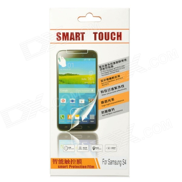 YO-54 Protective Tempered Glass Smart Screen Guard for Samsung S4 world outside the window paper
