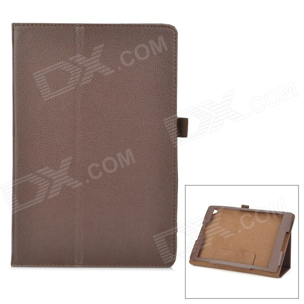 Protective PU Leather Case w/ Stand for Google Nexus 9 - Brown protective pu leather case w stand for tablets within 9 black