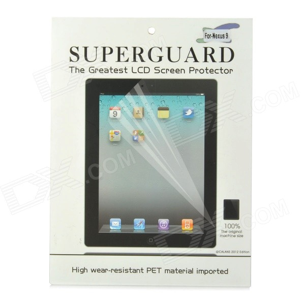 Protective PET Clear Screen Guard Film for Google Nexus 9 - Transparent