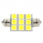 SENCART Festoon 39mm 5W 180LM 6500K 9 x 5054 SMD LED White Light Car Reading Lamp (12~16V / 2PCS)