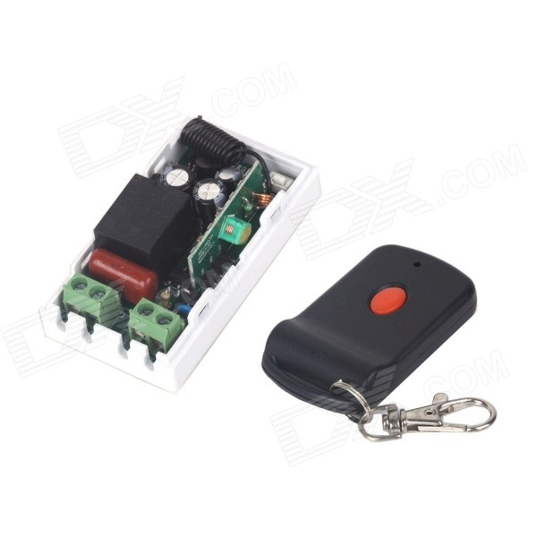 ZnDiy-BRY 220V 1-CH Remote Control Switch + Butterfly One Button Remote Control