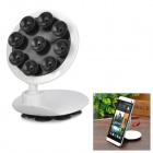 360 Degree Rotational Car Windshield Mount w/ Dual-Side Suction Cups for Cell Phone - Black + White