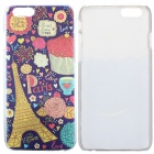 Eiffel Tower Pattern Protective PC Back Case for IPHONE 6 - Deep Purple + Multi-Color