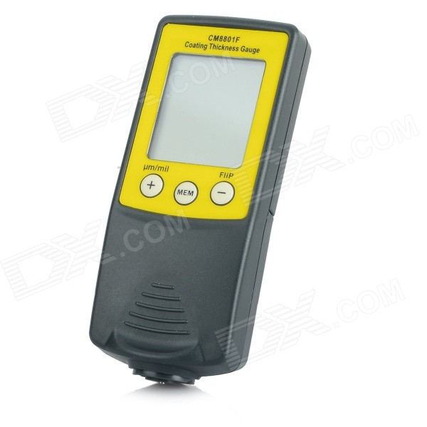 "CM8801F 1.7"" LCD Professional Digital Coating Thickness Gauge Tester - Grey + Khaki (1 x AAA)"