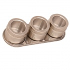 Creative Stainless Steel Magnetic Spice Jars - Silver (3 PCS)