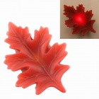 PZCD MY-16 Autumn Leaf Style Flame Twinkle LED Red Light Candle - Red (1 x CR2032)