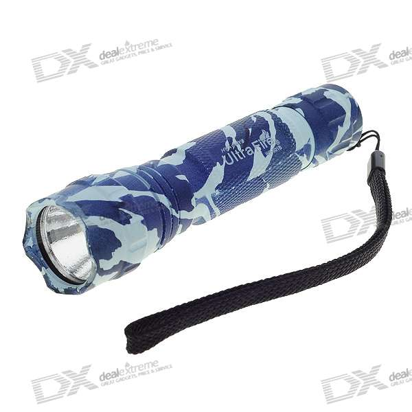 UltraFire WF-501B Camouflaged XPG-R5 5-Mode 300-Lumen Memory LED Flashlight (1*18650/2*16340) - DX18650 Flashlights<br>Brand: UltraFire Model: WF-501B Emitter Brand/Type: Cree Emitter BIN: XPG-R5 Color BIN: White Total Emitters: 1 Battery Configurations: 1 x 18650 / 2 x 16340 rechargeable battery Voltage Input: 3.3~9.0V 9.0V Max. Switch Type: Clicky/Clickie Switch Location: Tail-cap Modes: 5 Mode Memory: Circuitry Features Mode Memory Mode Arrangement: Hi &amp;gt; Mid &amp;gt; Lo &amp;gt; SOS &amp;gt; Fast Strobe Circuitry: Digital Regulated 1000mA Current Output Brightness: 320 lumens maximum brightness (manufacturer rated) Runtime: 40 minutes (manufacturer rated) Lens: Coated Glass Lens Reflector: Aluminum Textured/OP Reflector Carrying Clip: - Carrying Strap: Strap Included<br>
