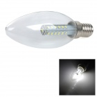 E14 5W 140lm 6000K White Light 3014 SMD LED Kerze-Birnen - Transparent + Silber (230V)