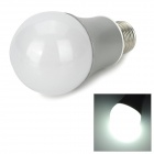 E27 5W 450lm 10-SMD 5730 LED White Light Bulb - Белый + Silver (AC 85-265)