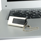 OP- 11 Ourspop Push- Pull estilo Mini USB 2.0 Flash Drive - Plata + Negro ( 32 GB )