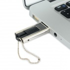 Ourspop OP-11 Push-Pull Style Mini USB 2.0 Flash Drive - Silver + Black (32GB)