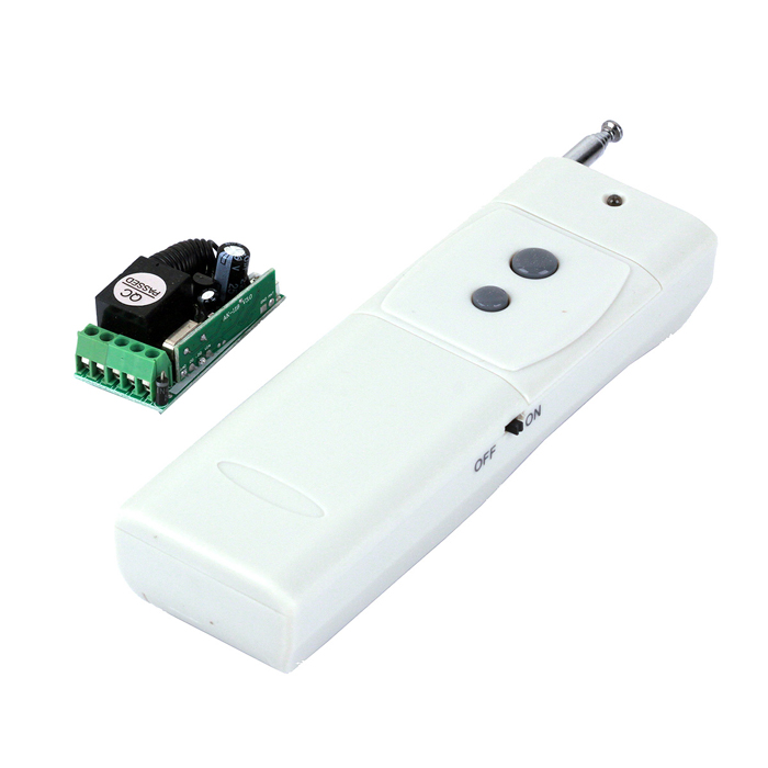 ZnDiy-BRY 12V Mini Wireless Remote Control Switch + High Power 2-Button Remote Control