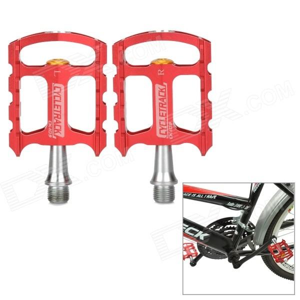 CYCLETRACK CK-109 Lightweight CNC Aluminum Bicycle Pedals - Red (2 PCS)