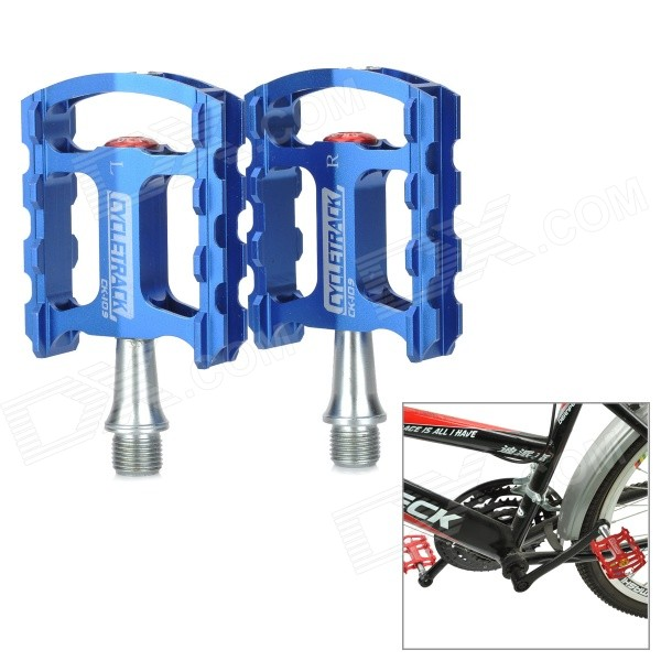 CYCLETRACK CK-109 Lightweight CNC Aluminum Bicycle Pedals - Blue (2 PCS)