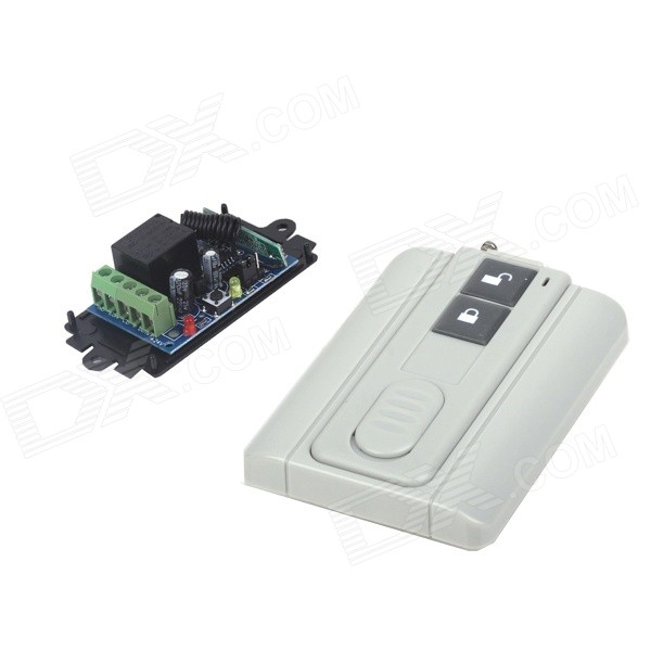 ZnDiy-BRY RF DC12V 1CH Learning Code Remote Control Switch + Ultra-thin Two Buttons Remote Control zndiy bry rf dc12v 1 ch learning code remote control switch w controller black