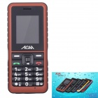 "AGM Stone 2 Waterproof IP67 Quad-Band GSM Bar Mobile Phone w/ 1.77"" Screen, FM - Brown"