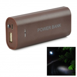 DIY 2 x 18650 Li-ion Mobile Power Bank Case w/ LED Flashlight