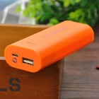 DIY 2 x 18650 Li-ion Mobile Power Bank Case w/ LED Flashlight - Orange