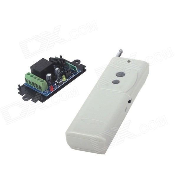 ZnDiy-BRY RF DC12V 1CH Learning Code Remote Control Switch + High Power Two Buttons Remote Control