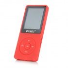 "RUIZU X02 1.8"" LCD Screen Rechargeable Digital Voice Recorder MP3 Player - Red (4GB)"