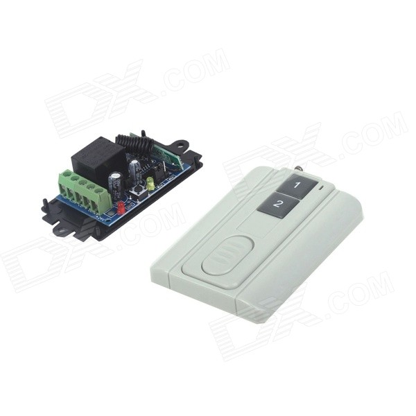 ZnDiy-BRY RF DC12V 1CH Learning Code Remote Control Switch + Ultra-thin Two Keys Remote Control