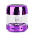 Mini Cylinder Shaped Bluetooth V2.0 Speaker w/ FM / TF / Mini USB / USB - Purple + Black