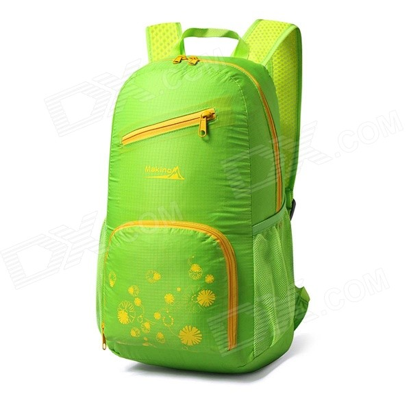 Makino 5517 Lightweight Water-resistant Foldable Outdoor Hiking Nylon Backpack - Grass Green (22L)