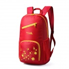Makino 5517 Lightweight Water-resistant Foldable Outdoor Hiking Nylon Backpack - Red (22L)