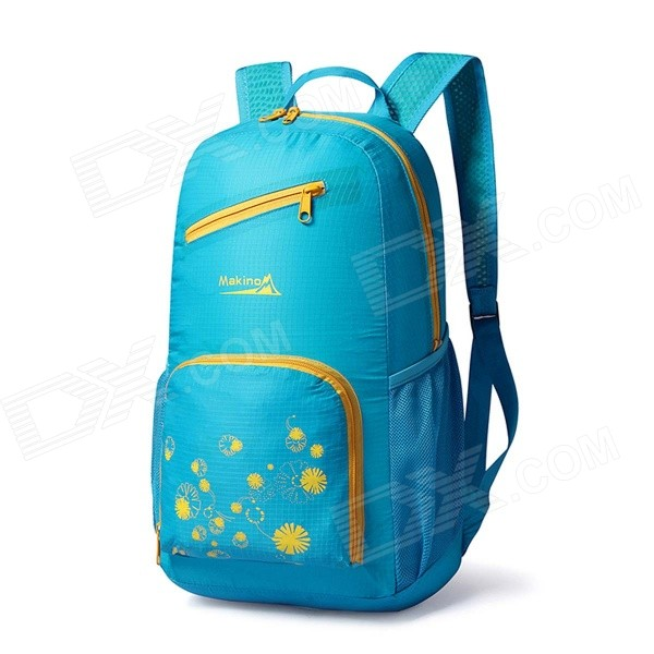 Makino 5517 Lightweight Water-resistant Foldable Outdoor Hiking Nylon Backpack - Blue (22L) whole set selling 16 folding mother